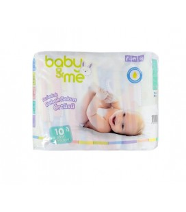 Baby&Me Pofuduk Alt Değiştirme Örtüsü 10 Adet 60*60