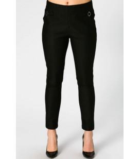 Selen Çizgili Siyah Cigarette Pantolon 28SL5325