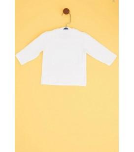 B&G Store Erkek Bebek Beyaz T-Shirt 19PFWBG150