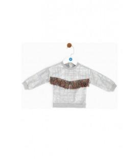 B&G Store Kız Bebek Beyaz Sweatshirt 19FW2BG2446