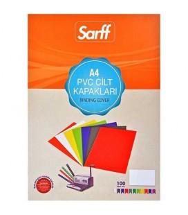 Sarff Pvc 160 Mikron Şeffaf A4 100 Adet Cilt Kapağı
