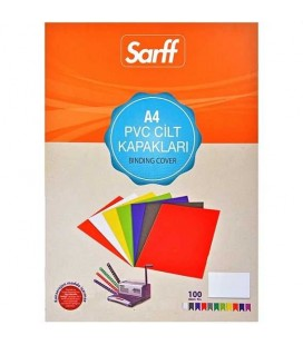 Sarff Pvc 160 Mikron Turuncu A4 100 Adet Cilt Kapağı