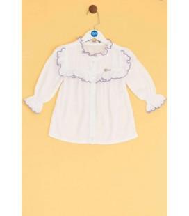 B&G Store Kız Bebek Beyaz Gömlek 19FW2BG2615