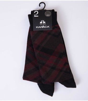 Çift Geyik Karaca Karaca Erkek 2 li Soket Çorap - Siyah 117311020