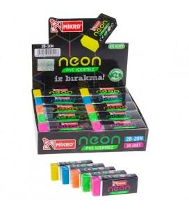 Mikro Neon Silgi 20'li 2B-20N İz Bırakma