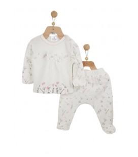 Luggi Baby Kız Organik Çiçek Pijama Takım Lg-4506