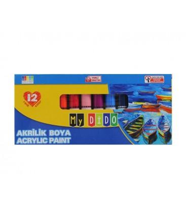 Mydido Akrilik Boya Tüp 12 Renk 9ml My14