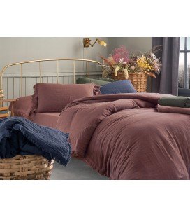 English Home Pure Folk Müslin King Size Nevresim Takımı 240X220 Cm