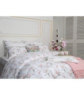 Magnolia Pamuklu Tek Kişilik Nevresim Seti 160x220 Cm Pembe