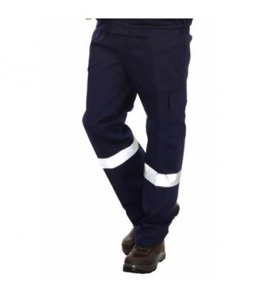 Fosforlu  İş Pantolonu Komando Cep Lacivert Kışlık