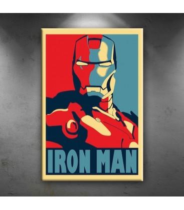 Iron Man Demir Adam Portre Afiş Dekoratif Tablo