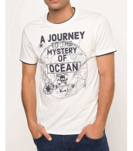 Defacto Erkek Harita Baskılı T-shirt G7795AZ