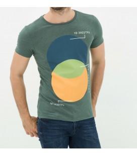 Koton Erkek Baskılı T-Shirt - Yeşil 6YAM11921LK750