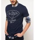 DeFacto Erkek Uçak Baskılı T-shirt G7857AZ