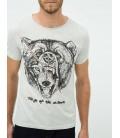 Koton Erkek Grafik Baskı T-Shirt  Gri 6KAM11586LK023