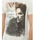 Koton Erkek Game Of Thrones Baskılı T-Shirt - Bej 6YAM11019LK03D