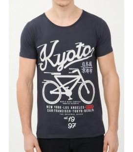 Koton Erkek Baskılı T-Shirt Lacivert 6KAM11712LK724