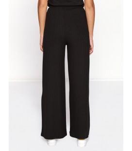 Koton Kadın Çizgili Pantolon Siyah 8KAL41426OK999