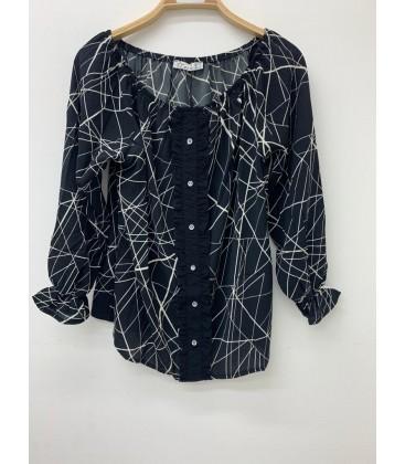 Miss Black Kadın Lacivert Bluz 3030