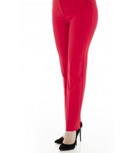 Ekol Kırmızı Kadın Cep Detaylı Pantolon 18y.ekl.pnt.02066.1
