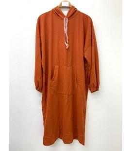 Trender Kadın Kapüşonlu Kanguru Cep Tunik 3083