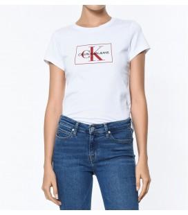 Calvin Klein Kadın Outline Monogram Slim FitTişört  J20J208604