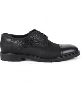 Kemal Tanca Erkek Siyah Fltr Nubuk Deri Klasik Ayakkabı 183 5202
