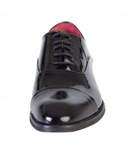 Kiğılı Neolit Taban Klasik Siyah Rugan Ayakkabı