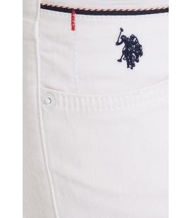 U.S.Polo Assn. Jean Erkek Beyaz Pantolon