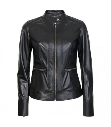 Kadın Siyah Deri Ceket K12160-1010028972007