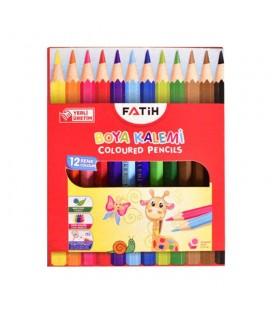 Fatih 12 Renk Yarım Boy Kuru Boya Kalemi