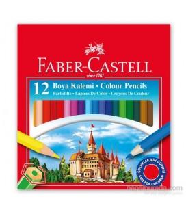 Faber-Castell Karton Kutu Boya Kalemi 12 Renk Yarım Boy