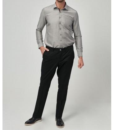 Altınyıldız Classics Erkek Slim Fit Kışlık Klasik Siyah Pantolon 4A0120100029