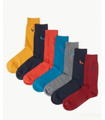 Marks&Spencer 7'li Cool & Fresh ™ İşlemeli Çorap T102281C