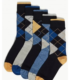 Marks&Spencer 5'li Cotton Cool & Fresh ™ Desenli Çorap  T101165C