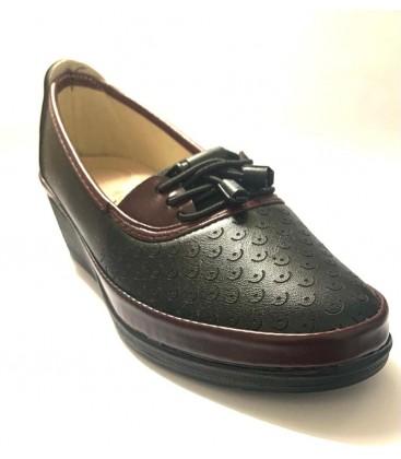 Annamaria Kadın Bağcıklı Ayakkabı Siyah Bordo
