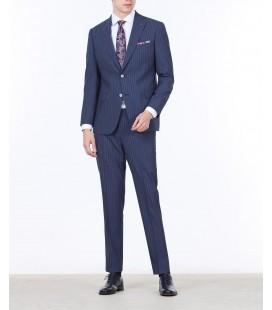 Ramsey İndigo Çizgili Dokuma Takım Elbise TKM-1131