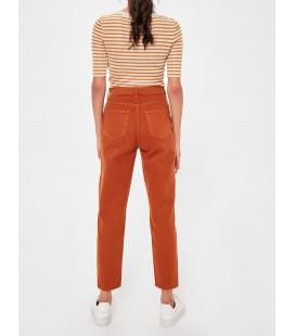 Trendyolmilla  Camel Yüksek Bel Mom Jeans TWOAW20JE0187