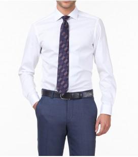 Kip Erkek Beyaz Düz Dokuma Uzun Kollu Gömlek