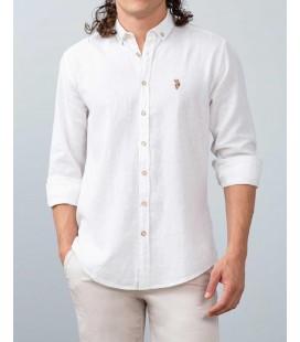U.S. Polo Assn. Erkek Gömlek Beyaz Gömlek Uzunkol G081SZ004.000.755222