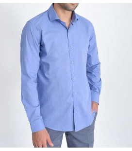 Hatemoğlu Düz Kumaş Mavi Erkek Gömlek19D190000165