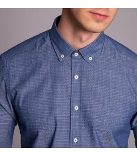 Dufy Erkek Gömlek Desenli Mavi DU4202011012