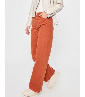 Trendyolmilla Kiremit Yüksek Bel Wide Leg Jeans TWOAW20JE0268