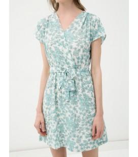 Koton Bayan Desenli Elbise V Yaka 6YAK88115PWC53