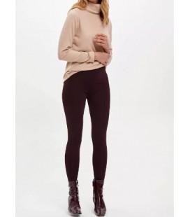Defacto Kadın Bordo Slim Fit Pantolon M4561AZ