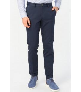 Altınyıldız Classics Erkek Lacivert Slim Fit Desenli Pantolon 4A0120200024