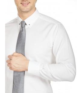 Bisse  Uzun Kollu İğneli Yaka Klasik Gömlek GM18K82131