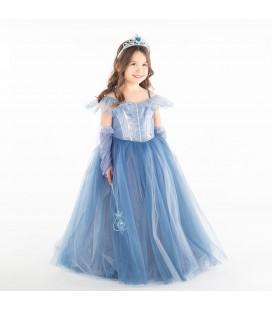 Mamino Kız Çocuk Mavi Kostüm 9352