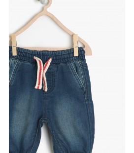 Koton Kids Beli Bağcıklı Normal Bel, Rahat Kesim Jean Pantolon  7KKB48345ODFD3