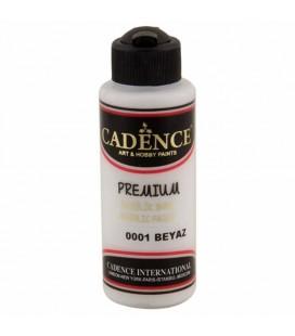 Cadence Premium Akrilik Boya 120ml 0001 Beyaz